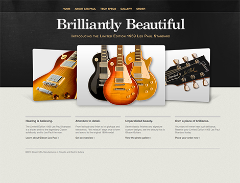 Brilliantly Beautiful - Gibson Guitars Website
